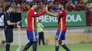 Diego Costa y Morata en la Selección.