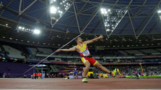 Héctor Cabrera durante la competición de este miércoles en Londres.