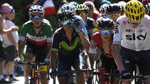 Varios ciclistas, en una etapa del Tour de Francia 2017