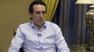 Emery (45), durante una entrevista con MARCA