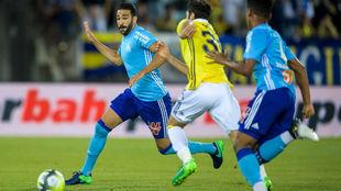 Rami, en su primer partido con el Marsella.