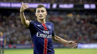 Marco Verratti (24), en un partido con el Paris Saint-Germain