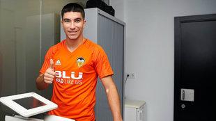 Carlos Soler, en las instalaciones de la ciudad deportiva de Paterna.