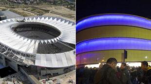 El Wanda Metropolitano y el Estadio de la Cer�mica