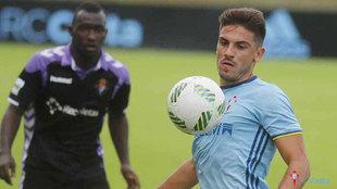 Borja Fernández (21), en un partido del Celta