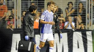 Januzaj, tras lesionarse contra el Girondins