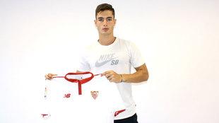 Luis García, nuevo jugador del filial del Sevilla.
