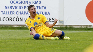 Razvan, durante un partido con el Alcorcón.