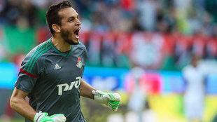 Guilherme, durante un encuentro con el Lokomotiv