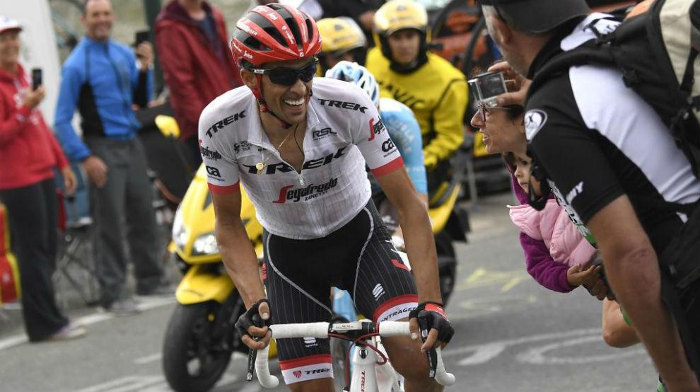 Alberto Contador durante el Tour de Francia.