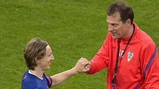 Modric y Bilic, en la selección croata.