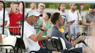 Zidane durante la concentración en UCLA