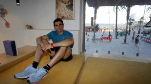 Bruno Hortelano posa para MARCA este jueves en Barcelona.