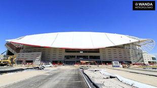 Los trabajos en el Wanda Metropolitano avanza a marchas forzadas