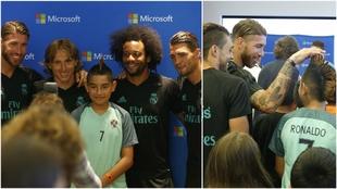 Los futbolistas participaron del evento de Microsoft 'La Hora del...