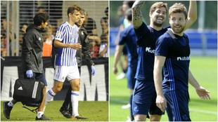 Llorente sale lesionado e Illarramendi entrena con la Real Sociedad