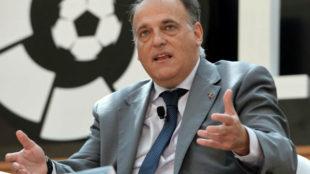 Javier Tebas en una imagen de la temporada pasada.