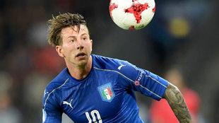 Bernardeschi en un partido con la sub-21 de Italia