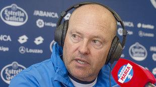 Pepe Mel (54), durante una entrevista en Radio Marca