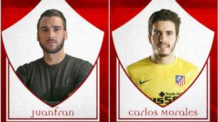Juanfran García (izquierda) y Carlos Morales (derecha), nuevos...