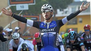 Fernando Gaviria durante el Giro de Italia de este año.