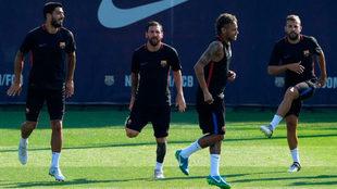 Neymar, durante un entrenamiento.