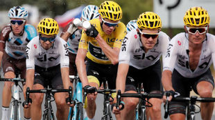 Chris Froome durante la etapa de este viernes.
