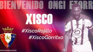 Xisco, nuevo jugador de Osasuna.