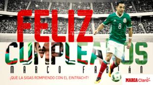 Marco Fabián y el Eintracht Frankfurt se encuentran de manteles...