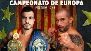 Cartelera de la pelea entre Marc Vidal y Sergio Blanco