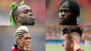 Los peinados más extravagantes del fútbol