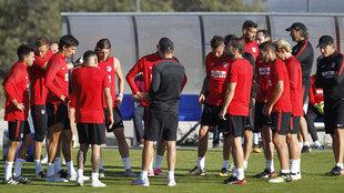 Entrenamiento del Atlético de Madrid sin fernando Torres