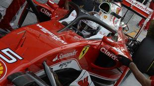 Vettel, con el sistema 'Halo' en Abu Dabi 2016