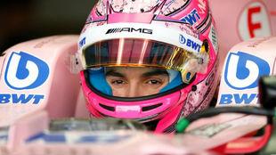 Esteban Ocon, en el GP de Gran bretaña