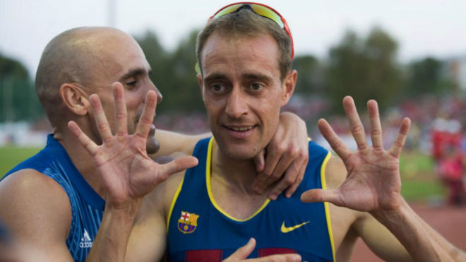 Ángel David Rodríguez celebra su décima título de campeón de...