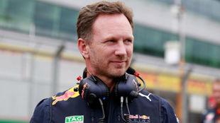 Christian Horner, en el pasado GP de Gran Bretaña