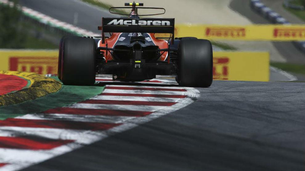 El McLaren, en el circuito de Spielberg