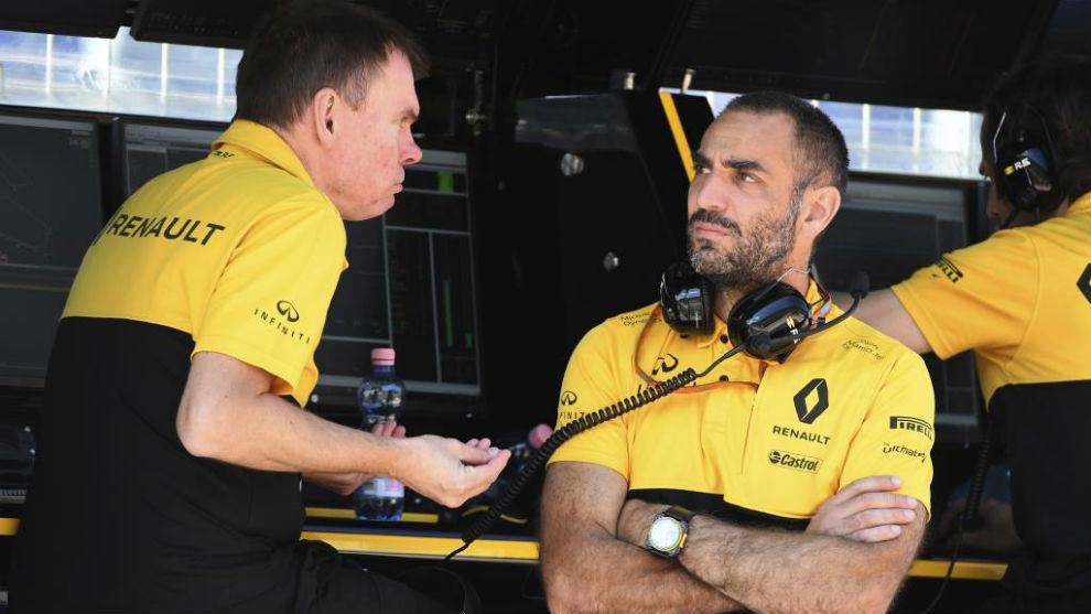 Cyril Abiteboul, en el GP de Austria