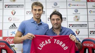 Lucas Torró, en su presentación como jugador de Osasuna