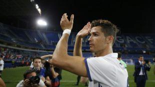 Cristiano _Ronaldo en La Rosaleda.