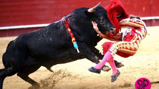 El toro arrolla a Román en el tercero de la tarde