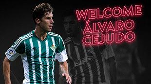 La imagen con la que el club le da la bienvenida a Álvaro Cejudo (33)