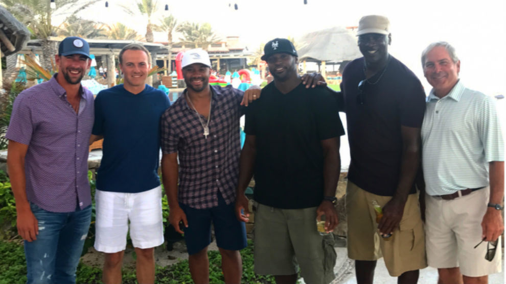 Phelps, Spieth, Wilson, Freeney, Jordan y Couples