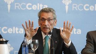 Carlos Mouriño (74), en comparecencia de prensa