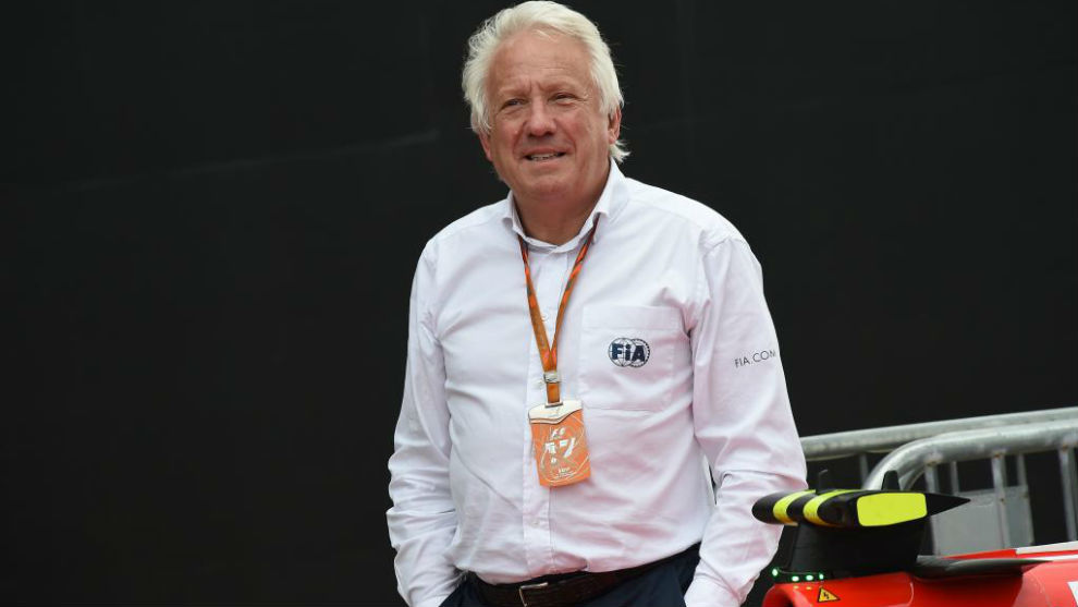 Charlie Whiting, Responsable de seguridad y director de carrera de la...
