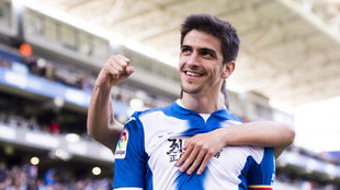 Gerard Moreno en un partido con el Espanyol