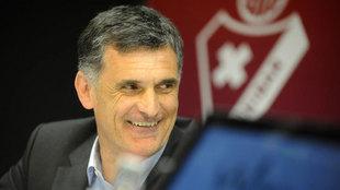 José Luis Mendilibar (56), durante una rueda de prensa