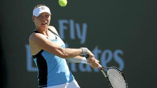 Zvonareva, en Indian Wells 2011