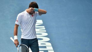 Novak Djokovic durante el Open de Australia.