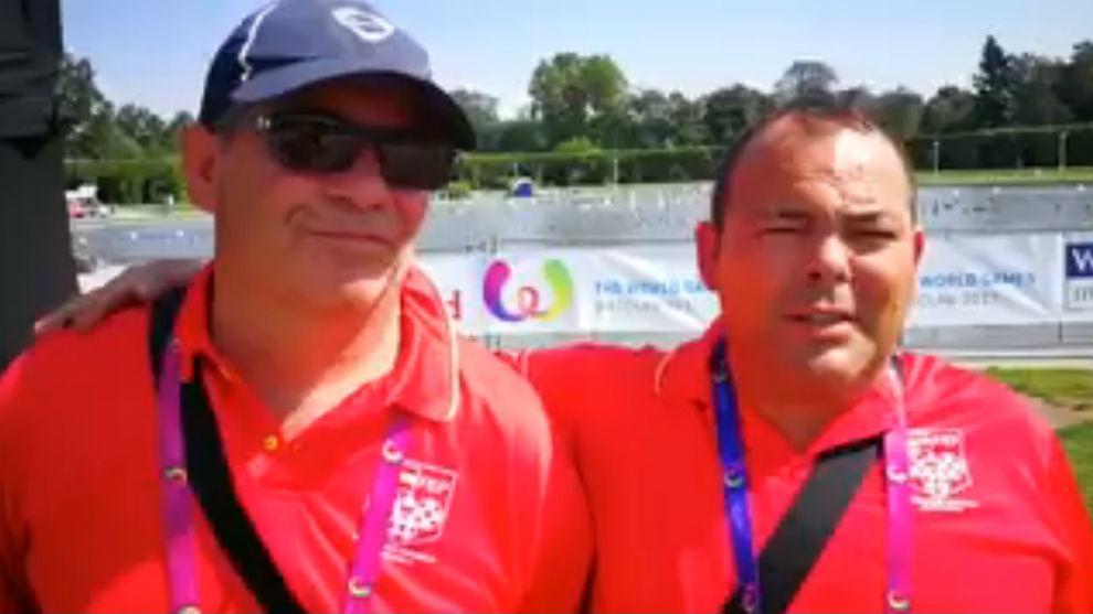 Manuel Romero y Enrique Catalán, bronce en dobles masculinos de...